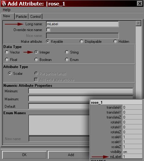 Adding miLabel attribute